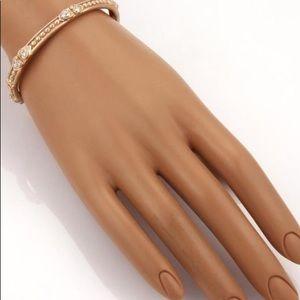 Judith Ripka Jewelry - New ~ Judith Ripka 18 K Double Heart Beaded Bangle